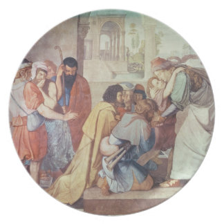 Joseph recognised by his brothers dinner plate