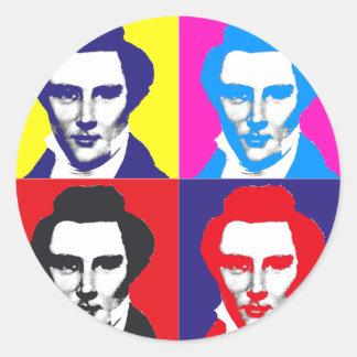 Joseph Smith Pop Art Round Sticker