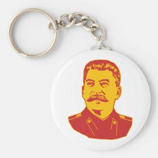 Joseph Stalin Portrait Basic Round Button Key Ring