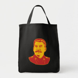Joseph Stalin Portrait Canvas Bags