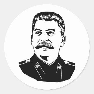 Joseph Stalin Portrait Classic Round Sticker