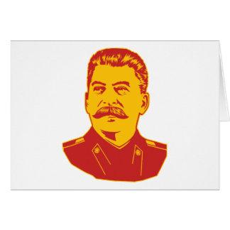 Joseph Stalin Portrait Greeting Card