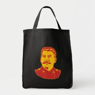Joseph Stalin Portrait Grocery Tote Bag