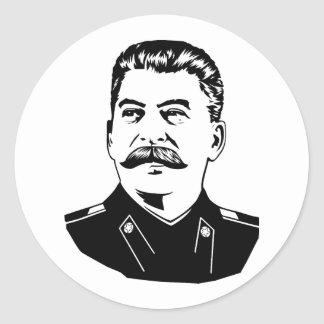 Joseph Stalin Portrait Round Sticker