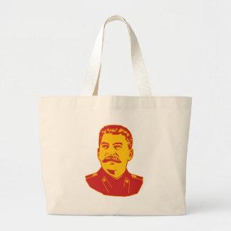 Joseph Stalin Portrait Tote Bags