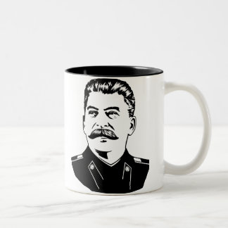 Joseph Stalin Portrait Two-Tone Coffee Mug