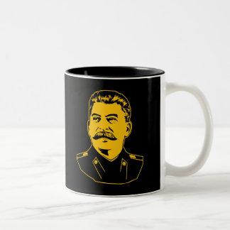 Joseph Stalin Portrait Two-Tone Coffee Mug