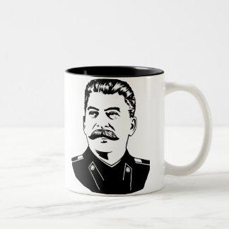 Joseph Stalin Portrait Two-Tone Mug