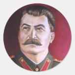 Joseph Stalin Round Sticker