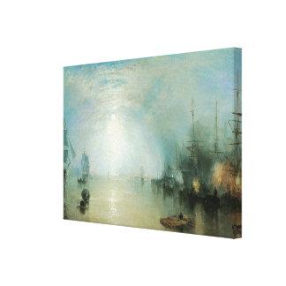 Joseph Turner, Vintage Victorian Maritime Seascape Canvas Print