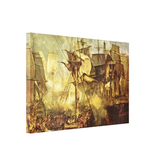 Joseph William Turner - Battle of Trafalgar Canvas