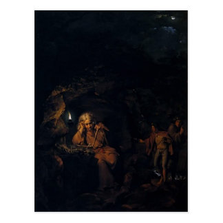 Joseph Wright- A Philosopher by Lamp Light Post Card