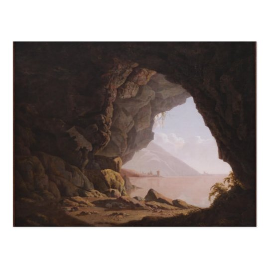 Joseph Wright- Cavern, Near Naples Postcard