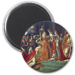 Joséphine Kneels Before Napoleon During His Corona Refrigerator Magnet