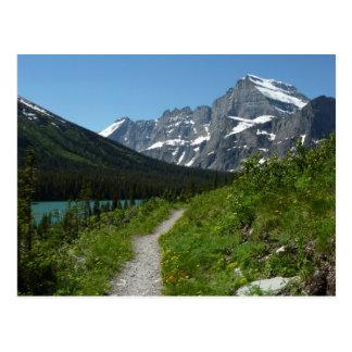 Josephine Lake Trail with Mount Guild at Glacier Postcard