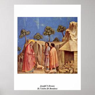 Joseph'S Dream By Giotto Di Bondone Poster