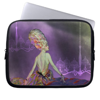 JOSETTE, 1920S FRENCH MODEL: LOVELY SPRING IRIS LAPTOP SLEEVE