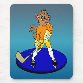 Josh the Ice Hockey Monkey Mouse Pad