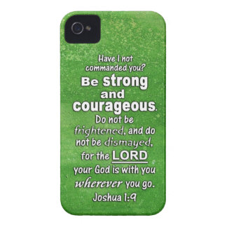 Joshua 1:9 Be Strong and Courageous Bible Verse Blackberry Bold Covers