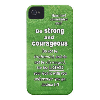 Joshua 1:9 Be Strong and Courageous Bible Verse iPhone 4 Covers