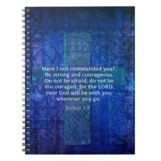 Joshua 1:9  Bible Verse About Strength Notebooks