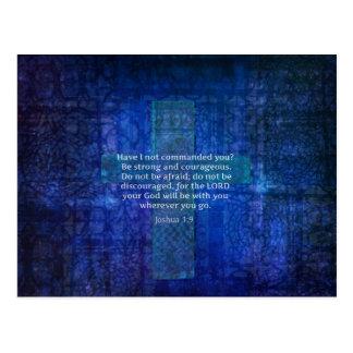 Joshua 1:9  Bible Verse About Strength Postcard