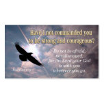 Joshua 1:9 - INSPIRATIONAL Profile CARDS Pack Of Standard Business Cards