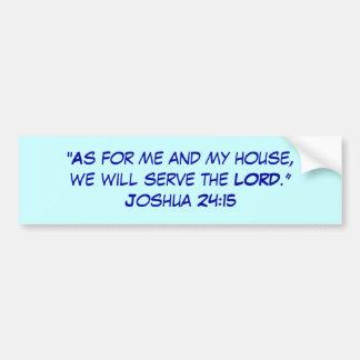 Joshua 21:15 bumper sticker