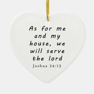 Joshua 24:15 christmas ornament