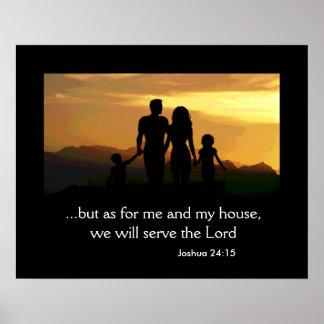 Joshua 24:15 Family Poster