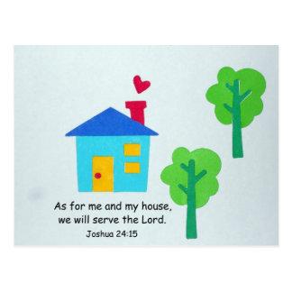 Joshua 24:15 postcard