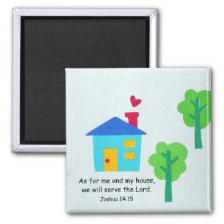Joshua 24:15 square magnet