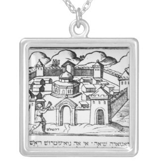 Joshua at the Walls of Jericho Silver Plated Necklace