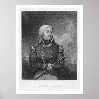 Joshua Barney (1759-1818), engraved by J. Gross af Poster