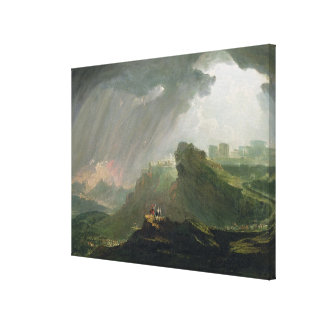 Joshua Commanding the Sun to Stand Still Upon Gibe Canvas Print