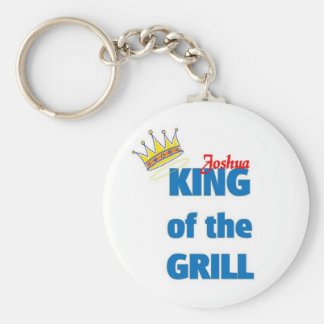 Joshua king of the grill key chains