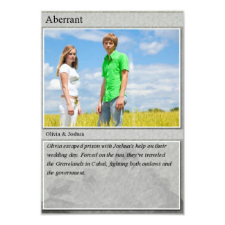 "Joshua & Olivia Trading Card 3.5"" X 5"" Invitation Card"