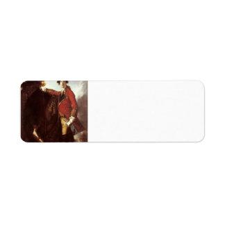 Joshua Reynolds- Captain Robert Orme Return Address Label
