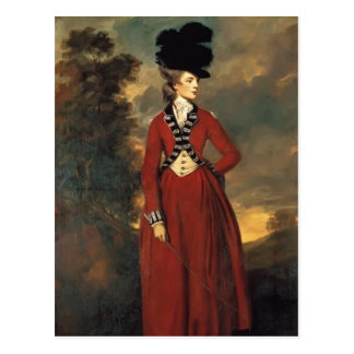 Joshua Reynolds- Lady Worsley Postcard