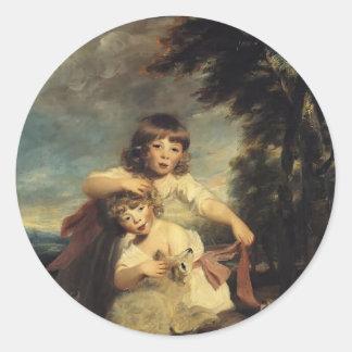 Joshua Reynolds- The Brummell Children Classic Round Sticker