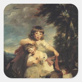 Joshua Reynolds- The Brummell Children Square Sticker
