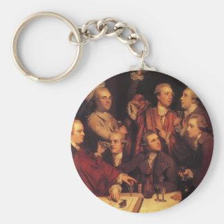 Joshua Reynolds- The Dilettanti Society Basic Round Button Key Ring