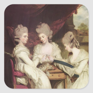 Joshua Reynolds- The Ladies Waldegrave Square Sticker