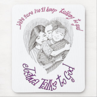 Joshua Talks to God -  He'll Keep on Talking Mouse Pad