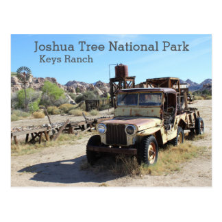 Joshua Tree - Keys Ranch Postcard! Postcard
