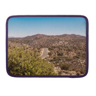 Joshua tree lonely desert road sleeve for MacBook pro