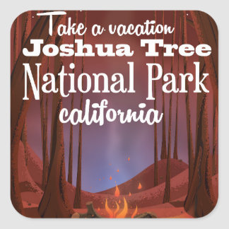 Joshua Tree National Park, California travel Square Sticker