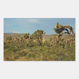 Joshua Tree National Park Desert Landscape Rectangular Sticker