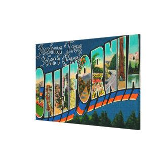 Joshua Tree Nat'l Park, CA - Large Letter Scenes Canvas Print