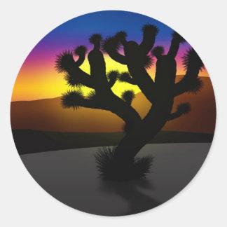 Joshua Tree Round Sticker